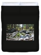 A River Scene In Wicklow, Ireland Duvet Cover