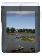 River Loire Fishing Boat Duvet Cover
