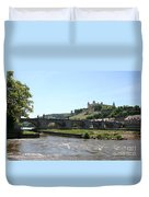 River Main With Fortress - Wuerzburg Duvet Cover