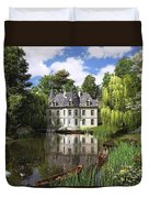 River Mansion Duvet Cover by Dominic Davison