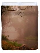 River Mist On A Mystical Morning Duvet Cover