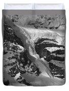 1m3646-bw-river Of Ice On Snowbird Glacier Duvet Cover