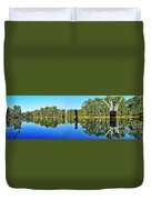 River Panorama And Reflections Duvet Cover