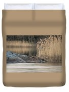 River Rock And Reeds Duvet Cover