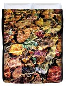 River Rock Rainbow Duvet Cover