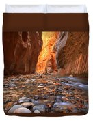 River Rocks In The Narrows Duvet Cover
