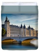 River Seine With Conciergerie Duvet Cover