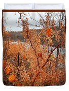 River Side Foliage Autumn Duvet Cover