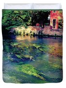 River Sile In Treviso Italy Duvet Cover
