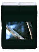 River Spider Web   Duvet Cover
