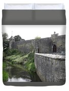 River Suir And Cahir Castle Duvet Cover