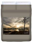 River Sunrise Duvet Cover