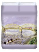 River Thames At Barnes Duvet Cover by Sarah Butterfield