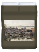 River Tiber In Rome Duvet Cover