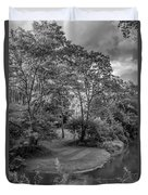River Tranquility Monochrome Duvet Cover