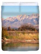 River View Mesilla Panorama Duvet Cover