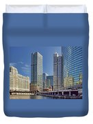 River View Skyline Duvet Cover