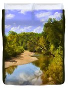 River View With Reflections - Digital Paint Duvet Cover