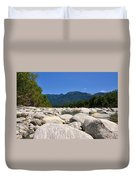 River With Mountain Duvet Cover