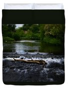River Wye - In Peak District - England Duvet Cover