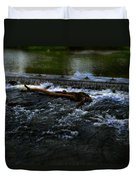 River Wye - Town Peak District - England Duvet Cover