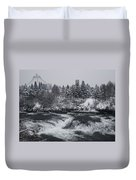 Riverfront Park Winter Storm - Spokane Washington Duvet Cover