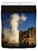 Riverside Geyser Eruption Duvet Cover