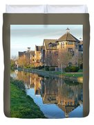 Riverside Home Reflections Vertical Duvet Cover by Gill Billington