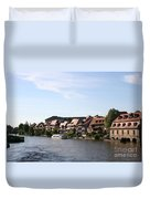 Riverside Of Bamberg - Germany Duvet Cover