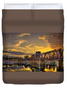 6th Street Sunset Augusta Georgia Riverwalk Marina Art Duvet Cover