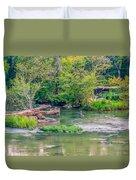 Riverwalk Park II Duvet Cover