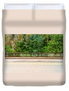 Road And Lush Green Forest Duvet Cover