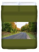 Road Passing Through A Forest, Alger Duvet Cover