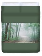 Road Passing Through A Forest, Skyline Duvet Cover