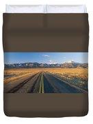 Road Through Desert Duvet Cover