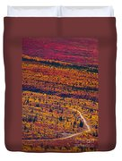 Road Through Fall Colored Tundra Duvet Cover