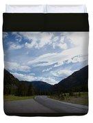 Road Through The Mountains Duvet Cover