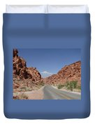 Road Throught The Valley Of Fire Duvet Cover