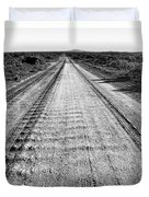 Road To Everywhere Bw Duvet Cover