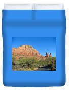 Road To Mother And Child Sedona Arizona Duvet Cover