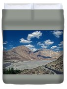 Road To Nubra Valley Duvet Cover