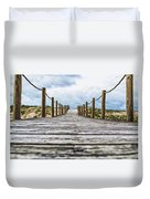 Road To The Dunes Duvet Cover