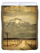 Road To The Mountains Duvet Cover