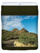 Road To The Two Humped Camel Duvet Cover