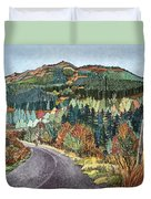 Road To Torloisk, 2008 Wc And Ink Duvet Cover