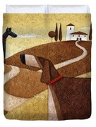 Road To Tuscany Duvet Cover