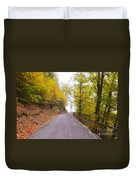 Road With Autumn Trees Duvet Cover