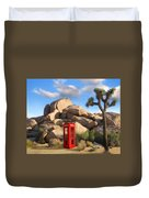 Phone Booth In Joshua Tree Duvet Cover