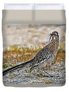 Roadrunner With Lizard Duvet Cover