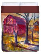 Roadside Barn Duvet Cover